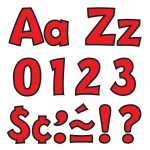 (3 Pk) Ready Letter 4in Playful Red Uppercase & Lowercase