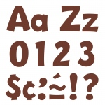 (3 Pk) Ready Letter 4in Playful Chocolate Uppercase & Lowercase