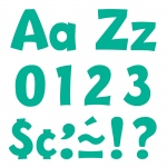 (3 Pk) Ready Letters 4in Teal Playful Combo