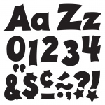 (3 Pk) Ready Letters 4in Black Uppercase Lowercase Combo
