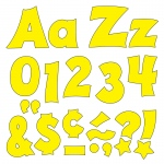 (3 Pk) Ready Letters 4in Yellow Uppercase Lowercase Combo