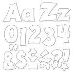 (3 Pk) Ready Letters 4in White Uppercase Lowercase Combo