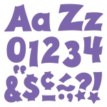 (3 Pk) Ready Letters 4in Purple Uppercase Lowercase Combo