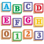 (3 Pk) Ready Letters 4in Wooden 3d Blocks