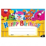 (12 Pk)happy Birthday Furry Friends Recognition Awards