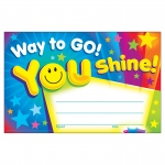 (12 Pk) Way To Go You Shine Recognition Awards