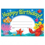 (12 Pk) Happy Birthday Sea Buddies Recognition Awards
