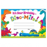 (12 Pk) Birthday Dino-Mite Pals Recognition Awards