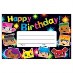 (12 Pk) Birthday Blockstars Recognition Awards