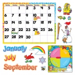 (2 St) Bb Set Monthly Calendar Cling Pieces