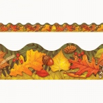 (12 Pk) Leav Of Autumn Trim Scallop Edge 12 Per Pk 2.25x39 Total