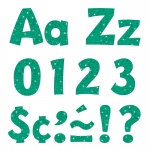 (3 Pk) 4in Ready Letters Teal Sparkle