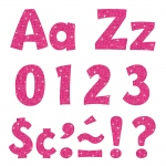 (3 Pk) 4in Ready Letters Hot Pink Sparkle