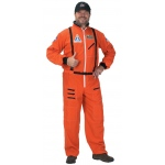 Aeromax Adult Astronaut Suit with Embroidered Cap: Orange, Small