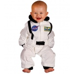 Aeromax Junior Astronaut Suit: White, Size 6 to 12 Months