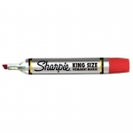 (12 Ea) Sharpie King Size Permanent Marker Red