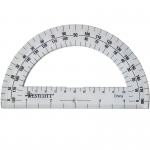 (36 Ea) Protractor 6in 180 Degree Clear