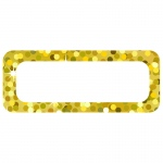 (3 Pk) Die Cut Magnets Gold Sparkle Name Plates