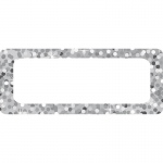(3 Pk) Die Cut Magnets Silver Sparkle Nameplates