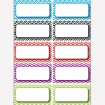(5 Pk) Die Cut Magnets Color Chevron Name Plates