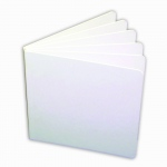 (6 Ea) White Hardcover Blank Book 11x8-1/2