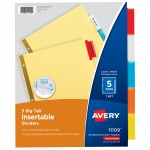 (24 Pk) Avery Worksaver Big Tab Insertable Dividers 5 Tab Set
