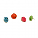 (6 Pk) Fancy Push Pins Smiley Face