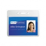 (4 Pk) Name Badge Holder Horizontal 12 Per Pk