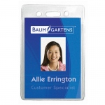 (4 Pk) Name Badge Holder Vertical 12 Per Pk