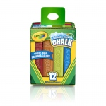 (8 Bx) Crayola Washable Sidewalk Chalk 12ct Per Bx