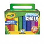 (4 Bx) Crayola Washable Sidewalk Chalk 48ct Bx