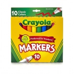 (6 Bx) Crayola Taklon Watercolor 10ct Brsh Classic Brd Line Markers
