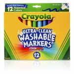 (3 Bx) Crayola Washable Markers 12ct Per Bx Asst Clrs Conical Tip