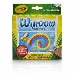 (4 Bx) Crayola 8ct Per Bx Washable Window Markers