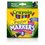 (6 Bx) Crayola 8ct Per Bx Poster Markers