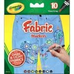 (4 Pk) Crayola Fine Line Fabric Markers 10 Colors