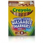 (6 Bx) Multicultural Washable Markers 8ct Per Bx Conical Tip
