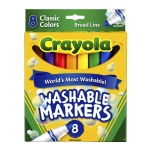 (6 Bx) Washable Coloring Markers 8ct Per Bx Colors