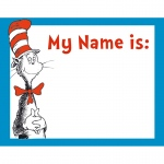 (12 Pk) Cat In The Hat Name Tags