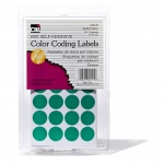 (12 Pk) Color Coding Labels Green