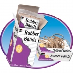 (10 Pk) Rubber Bands Assorted Sizes 1/4lb Box