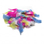 (12 Pk) Turkey Feathers Spring Clrs 14g Per Bag