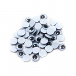 (24 Pk) Wiggle Eyes Round 10mm Blk 50ct Per Pk