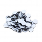 (12 Pk) Wiggle Eyes Round 15mm Blk 50ct Per Pk
