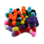 (12 Pk) Pom Poms 1.5in Asst Colors 100 Per Pk