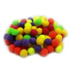 (12 Pk) Pom Poms 1.5in Hot Colors 100 Per Pk