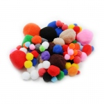 (12 Pk)pom Poms Asst Sizes & Colors 100 Per Pk