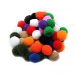 (12 Pk) Pom Poms 1in Asst Colors 50 Per Pk