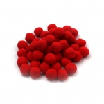 (12 Pk) Pom Poms 1in Red 50 Per Pk