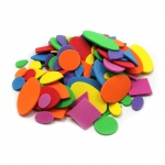 (12 Pk) Foam Shapes Asst Colors 264 Per Pk